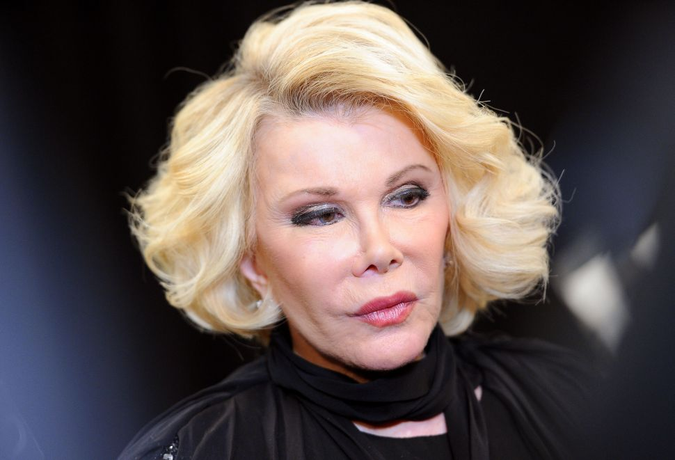 Can We Hawk? Joan Rivers Plugs New TV Show at UES Penthouse