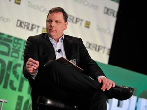 Visiting dignitary: TechCrunch founder Mike Arrington. Photo: Getty/AOL