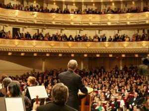 Mayor Bloomberg speaks at the 120th Anniversary Celebration of Carnegie Hall. May 05, 2011 (Photo Credit: Kristen Artz)