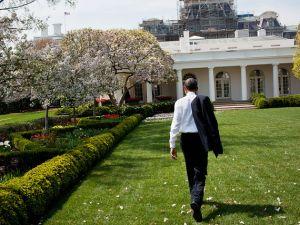 President Barack Obama walking outside the White House. (Photo: Pete Souza)