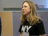 Chelsea Clinton joins same-sex marriage advocates at a phone bank in Manhattan.
