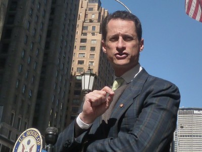 Staying or Going? Either way, Anthony Weiner isn't making it easy for New York. (photo credit: azi paybarah / observer)