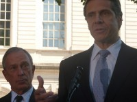 Mayor Bloomberg endorsed Andrew Cuomo for governor immediately after the primary in 2010. (photo credit: azi paybarah / observer)