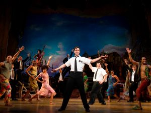 Rannells and Gad in The Book of Mormon. Photo via Joan Marcus (she has a vagina).