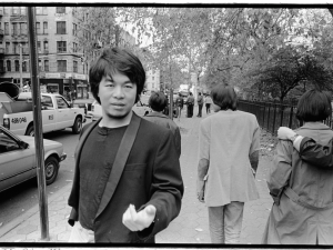 Ai's self-portrait outside Tomkins Square Park, 1986. c/o Asia Society Museum.