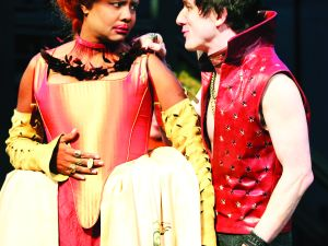 Tonya Pinkins and Carson Elrod in Measure for Measure.