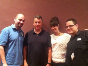 DrChrono with Y Combinator founder Paul Graham. From left to right: Michael Nusimow, Mr. Graham, Katelyn Gleason and Daniel Kivatinos.