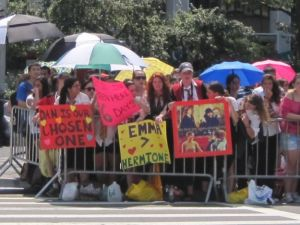 Fans camped outside Lincoln Center for tonight's Harry Potter red carpet premiere