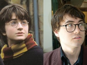 The author (R) and Harry Potter.