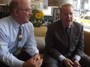 They Do: Mayor Bloomberg will officiate the marriage of two of his aides -- Jonathan Mintz (left) and John Feinblatt -- at Gracie Mansion tomorrow. (photo credit: azi paybarah / observer)