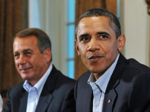 Boehner and Obama.