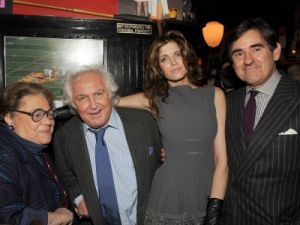 Restaurateur, Elaine Kaufman, art dealer Tony Shafrazi, model Stephanie Seymour and art collector and businessman Peter Brant