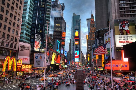 One of America's most crowded places 24/7