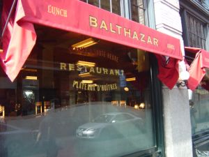 Breakfast at Balthazar came crashing to an end after a mirror fell on patrons.