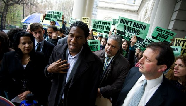 Council Member Jumaane Williams During the Press Conference (Photo Credit: William Alatriste)