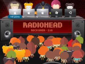 In a room of bobbing avatars, Radiohead take on new meaning