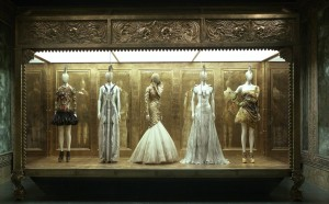 "Installation view of ""Alexander McQueen: Savage Beauty"" at the Metropolitan Museum of Art. (Photo: Metropolitan Museum of Art)"