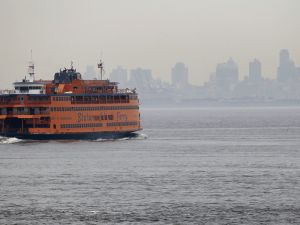 A Staten Island Ferry boat (Photo by Spencer Platt/Getty Images).