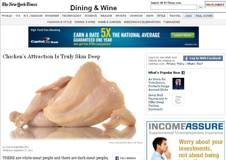 "The New York Times Introduces ""Sexy Chicken,"" Confusing Everyone"
