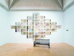 """Monument"" (1980-1981) by Susan Hiller, at MoMA P.S.1. (Photo courtesy the artist and Timothy Taylor Gallery, London)"