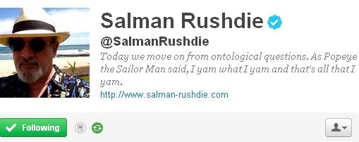 Update: Irrepressible Salman Rushdie Responds to Twitter Handle Win