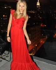 Jessica Hart, and the view from the Hotel Americano rooftop.