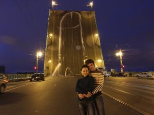 Last year, Voina painted a 213-foot-tall penis on a bridge near the offices of Russia's Federal Security Service.