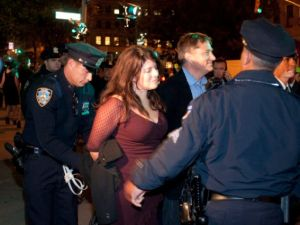 Naomi Wolf gets arrested outside Huffington Post Game Changers