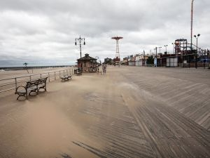 The sands of time have come for the boardwalk. (Getty)