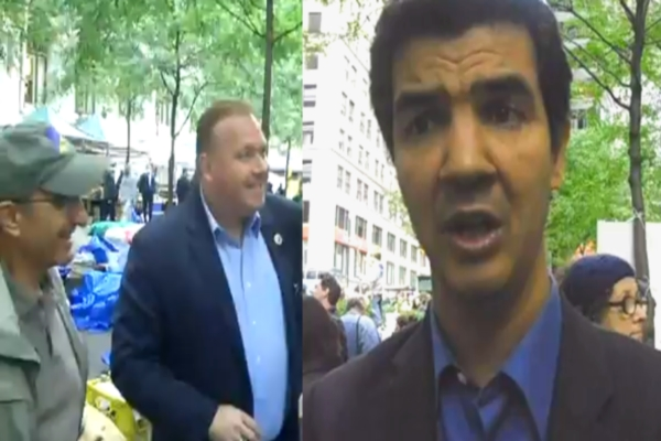 City Councilmen Break Out In Spontaneous Debate in Liberty Plaza