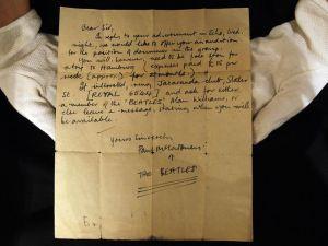 Mr. McCartney's Letter. Courtesy of Artdaily.org