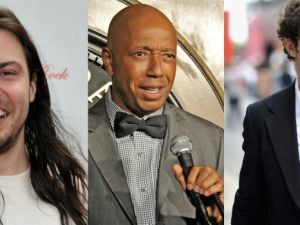 Andrew W.K., Russell Simmons, and James Franco (via Getty)