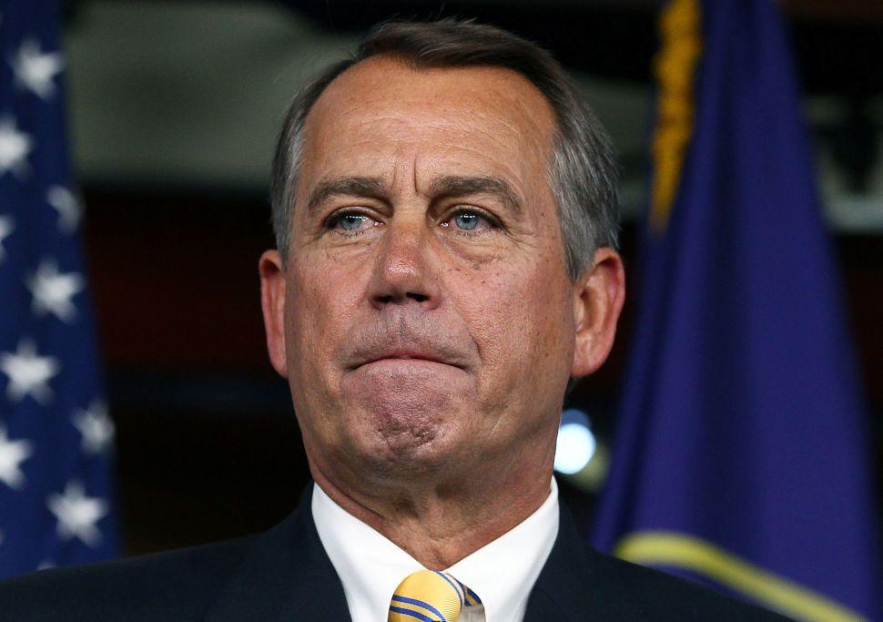 NYC's Lone Republican Congressman Calls John Boehner a 'Man of Integrity'