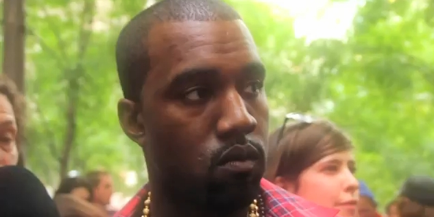 Kanye West Remains Mute at Occupy Wall Street [Video]