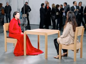 Marina Abramovic at the Museum of Modern Art. (Photo by Andrew Russeth)