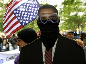 An Occupy Wall Street Protester in Zuccotti Park. (Getty)