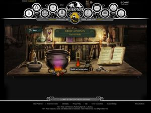Making potions at Pottermore.