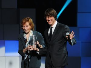 Ms. Burns and Mr. Crowley at this year's Webby Awards.