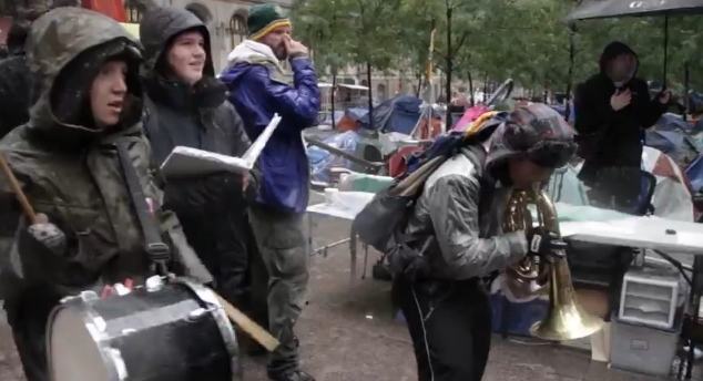 Here's How You Occupy Wall Street During a Blizzard [Video]