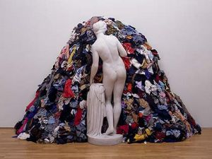 """Venus of the Rags"" (1967/1974) by Michelangelo Pistoletto."