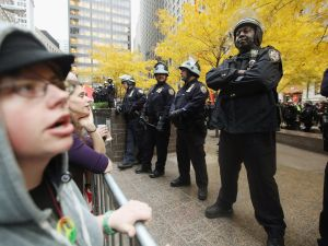 The NYPD occupies Zuccotti Park (Getty Images)