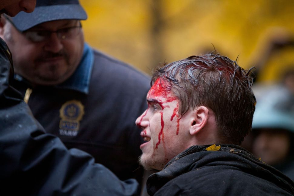 New York Gay Porn Director Films in Oakland, Reaches Out to Bloodied, Pantsless Zuccotti Protester