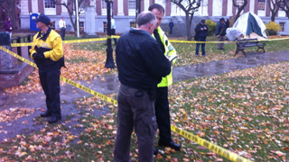 Shooting at Occupy Vermont Protest [Video]
