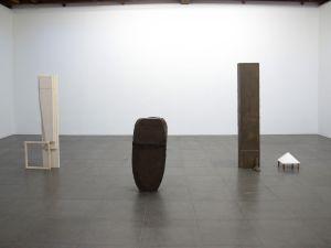 "Installation view of Esther Kläs, ""Nobody Home,"" at Peter Blum"