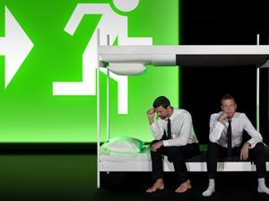 Elmgreen and Dragset, rendering for Happy Days in the Art World. Courtesy the artists and Performa