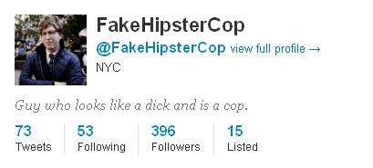 (Fake) Hipster Cop Joins Twitter, Checks 'New York Observer' for Updates on Himself