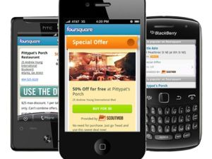 Scoutmob deals served up in the foursquare app