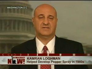 Kenny Loghman, creator of pepper spray (via Democracy Now)
