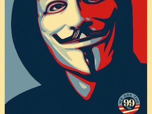 Shepard Fairey's original image for OWS