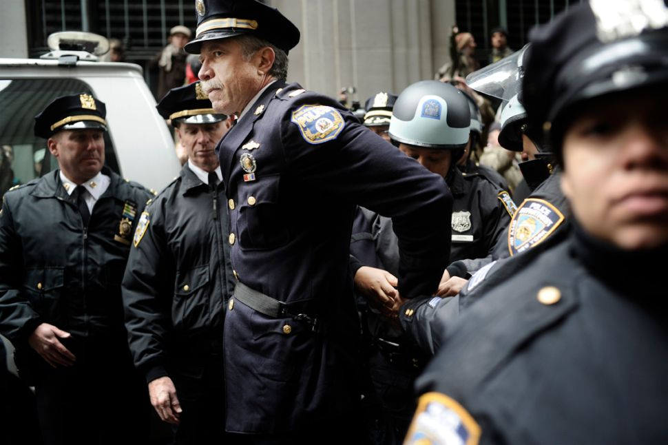 Former Captain Ray Lewis Charged With Three Violations After OWS Protest; More Photos Of His Arrest